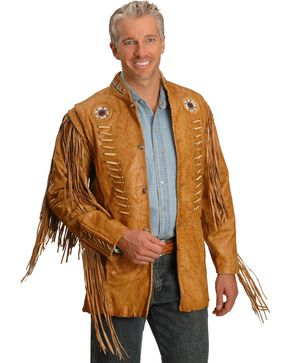 Kobler Zapata Fringed Leather Jacket, Beige, hi-res