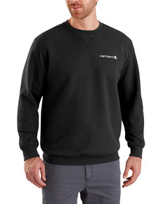 Carhartt Men's Midweight Graphic Crew Work Sweatshirt - Big , Black, hi-res
