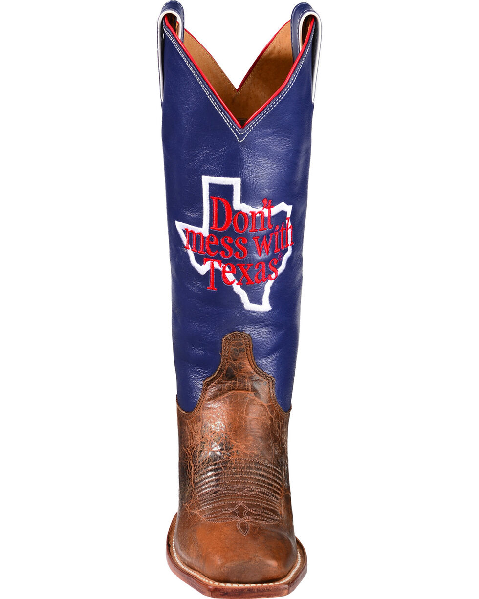 "Justin Women's ""Don't Mess With Texas"" Western Boots, Cognac, hi-res"
