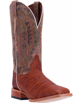 Dan Post Men's Bradey Square Toe Western Boots, Cognac, hi-res