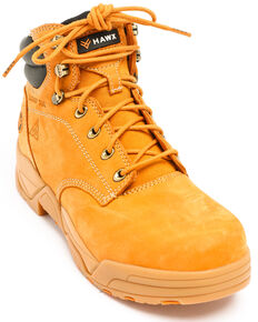 Hawx Men's Wheat Enforcer Lace-Up Work Boots - Composite Toe, Wheat, hi-res