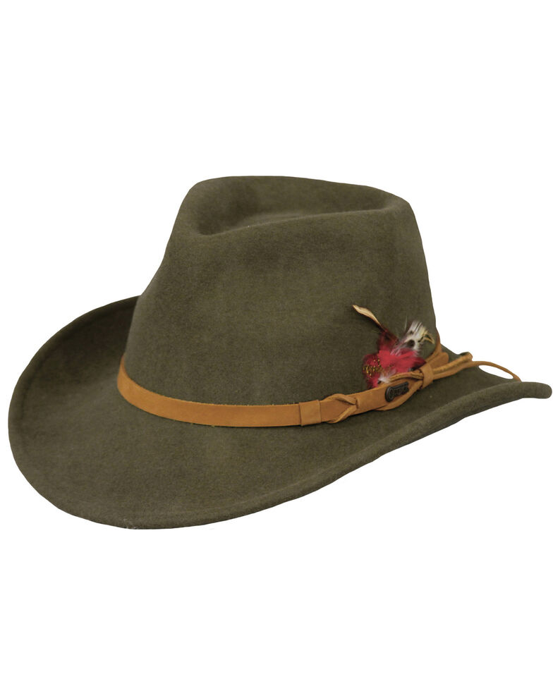 Outback Unisex Randwick Tassy Crusher Hat, Moss, hi-res