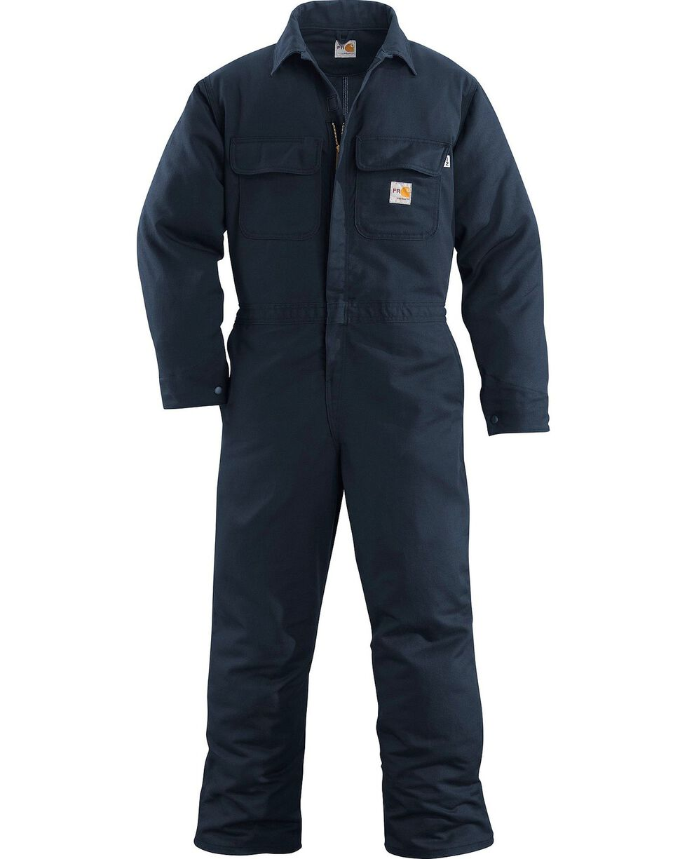 Carhartt Flame Resistant Work Coveralls, Navy, hi-res