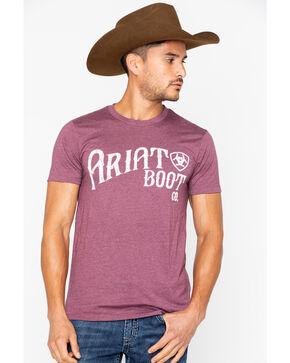 Ariat Men's Ariat Boot Co. Short Sleeve Tee, Burgundy, hi-res