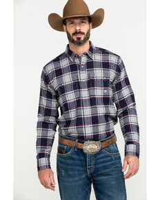 Ariat Men's Falkin Retro Plaid Snap Long Sleeve Flannel Shirt , Multi, hi-res