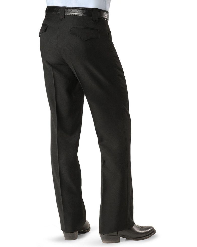 Circle S Men's Heather Ranch Dress Pants, Black, hi-res