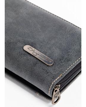 Shyanne Women's Black Patine Stud Wallet, Black, hi-res
