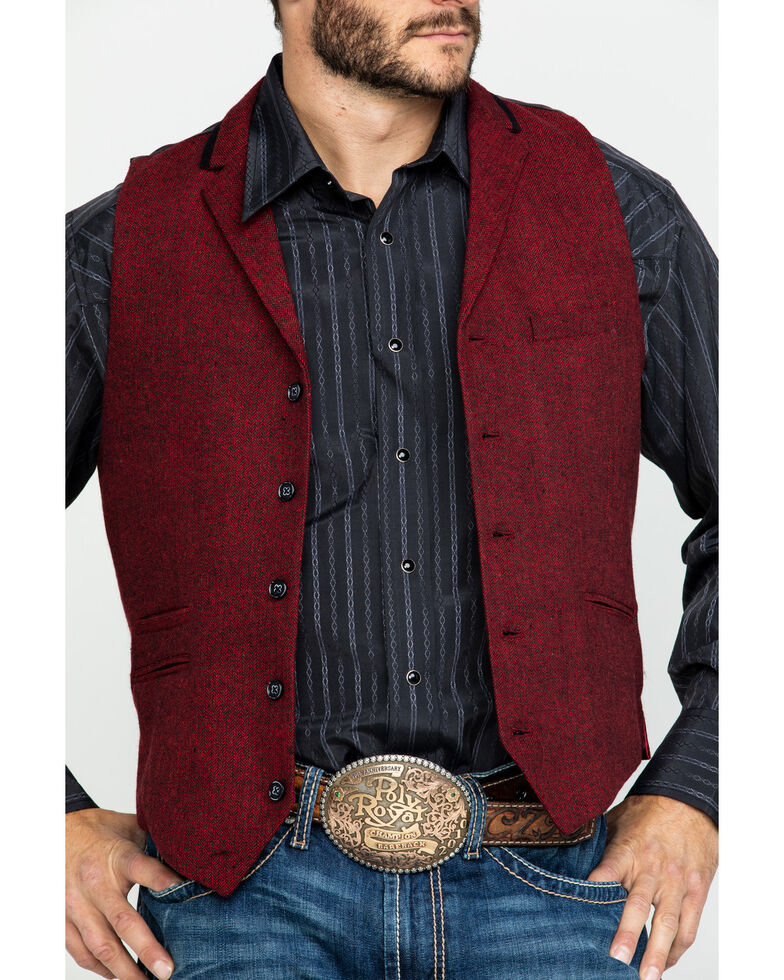 Scully RangeWear Men's Western Herringbone Wool Vest , , hi-res