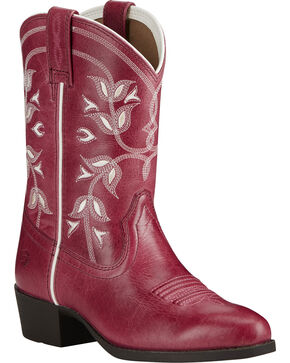 Ariat Youth Girls' Desert Holly Western Boots, Pink, hi-res