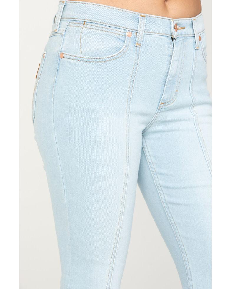 Wrangler Modern Women's Bleach Seamed Flare Jeans, Light Blue, hi-res