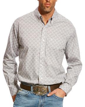 Ariat Men's Grey Carlington Stretch Print Shirt , Grey, hi-res