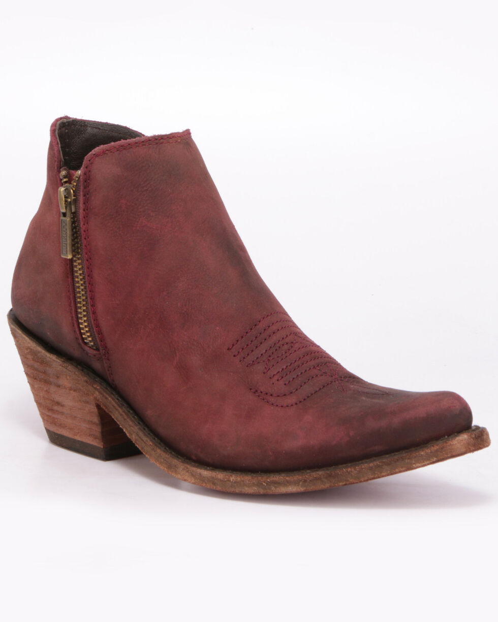 Liberty Black Women's Vegas Tinto Western Booties - Pointed Toe, Wine, hi-res