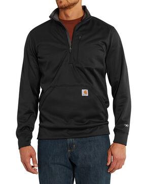 Carhartt Men's Force Extremes Mock-Neck Half-Zip Sweatshirt - Big, Black, hi-res