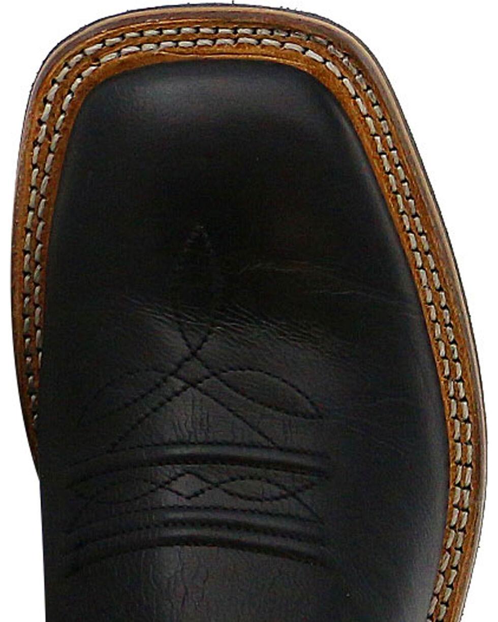 Cody James Boys' Black/Brown Old West Cowboy Boots - Square Toe, Black, hi-res