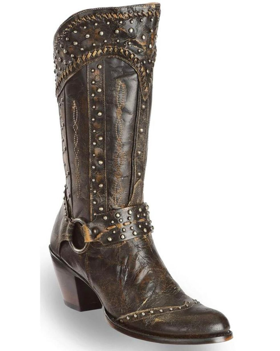 Dan Post Women's Sexy Back Western Boots, Black, hi-res