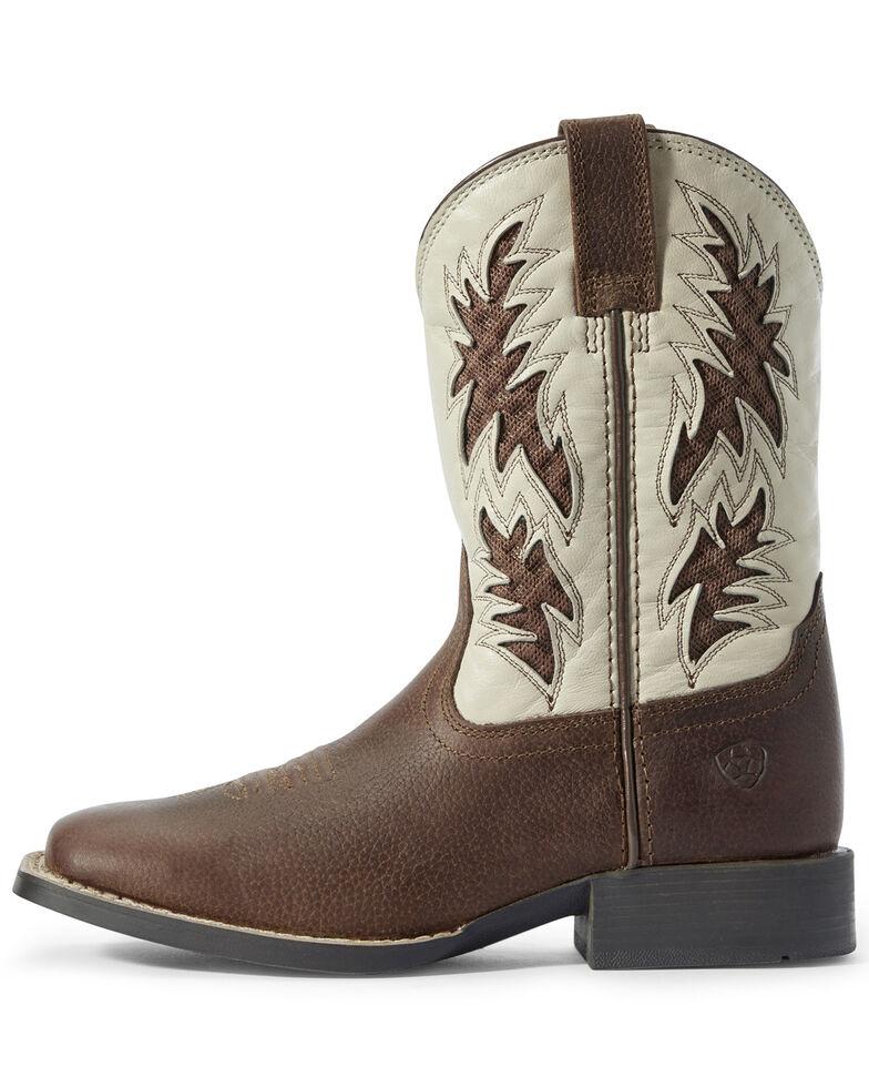 Ariat Youth Boys' Cognac VentTEK Western Boots - Square Toe, Brown, hi-res