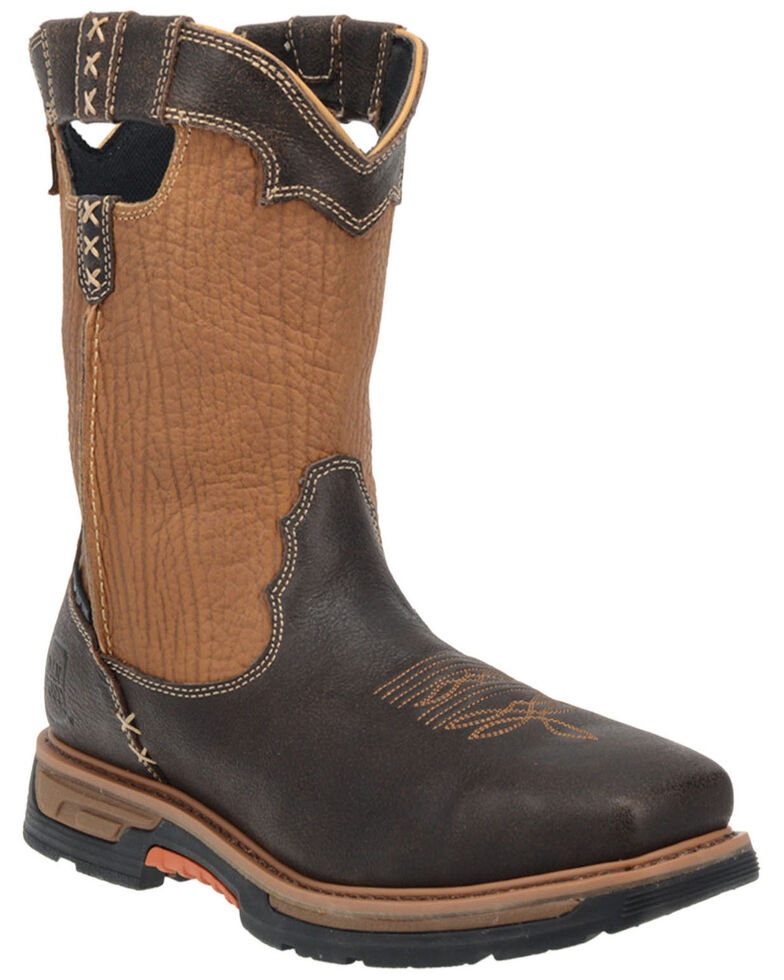 Dan Post Men's Scoop EH Waterproof Western Work Boots - Composite Toe , Rust Copper, hi-res