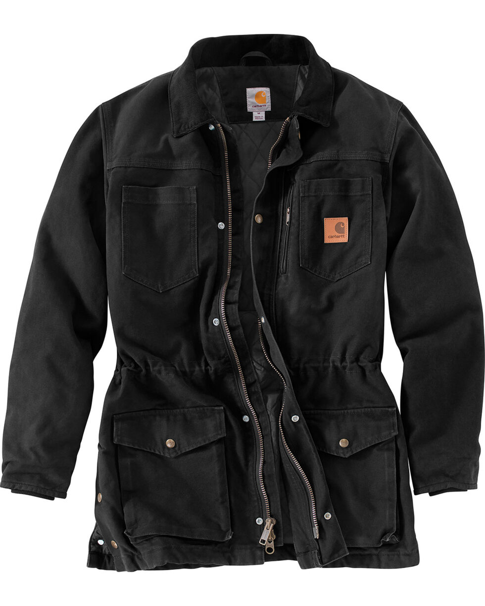 Carhartt Men's Canyon Ranch Coat - Big & Tall, Black, hi-res
