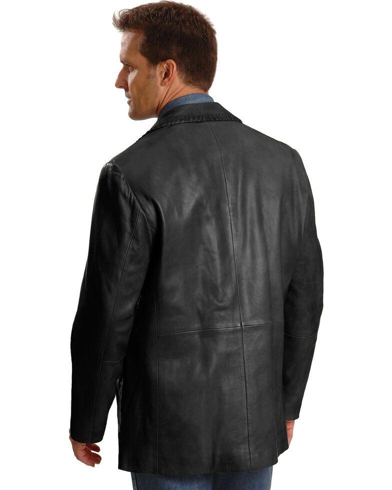 Scully Whipstitch Lambskin Leather Blazer - Reg, Tall, Black, hi-res