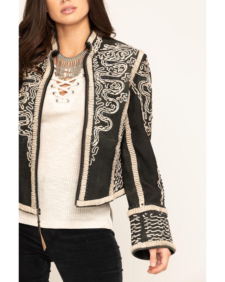 Double D Ranchwear Women's Black Plaza Charro Jacket, Black, hi-res