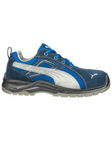 Puma Men's Omni Safety Shoes - Steel Toe, Blue, hi-res