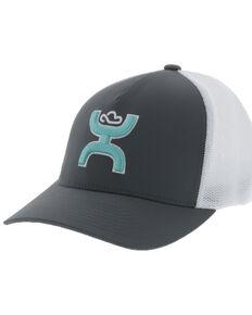 HOOey Men's Grey Coach Mesh Flex Fit Ball Cap , Grey, hi-res