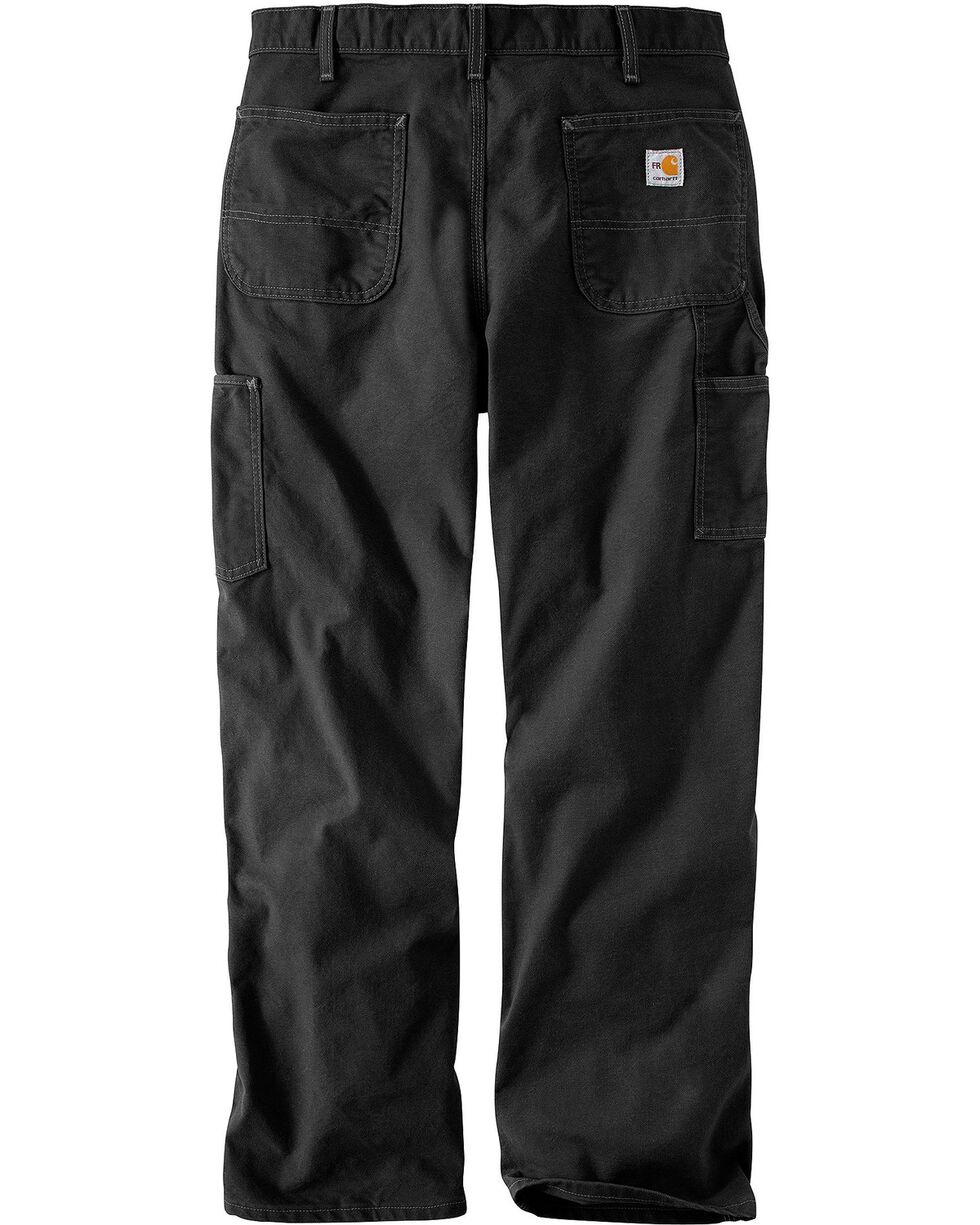 Carhartt Flame Resistant Washed Duck Work Pants, Black, hi-res
