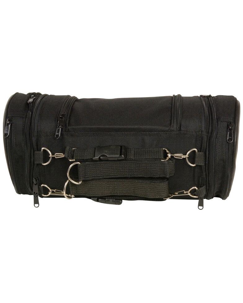 Milwaukee Leather Black Large Textile Sissy Roll Bag , Black, hi-res