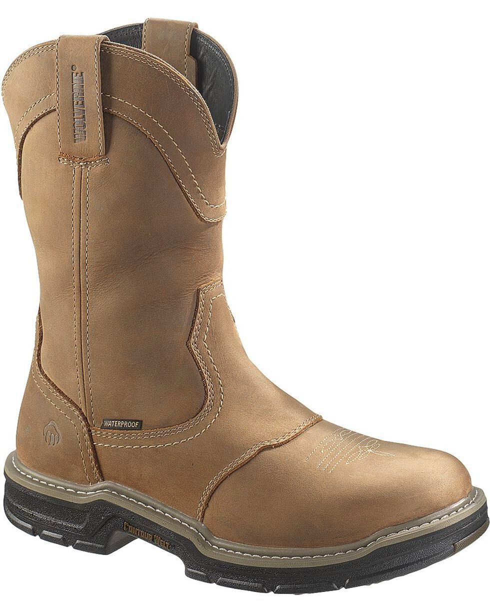 Wolverine Men's Anthem Waterproof Wellington Boots, Brown, hi-res