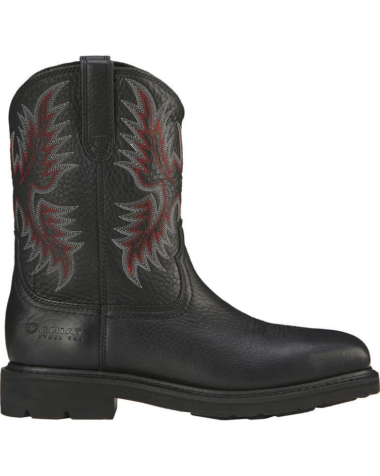 Ariat Men's Sierra Steel Toe Work Boots, Black, hi-res