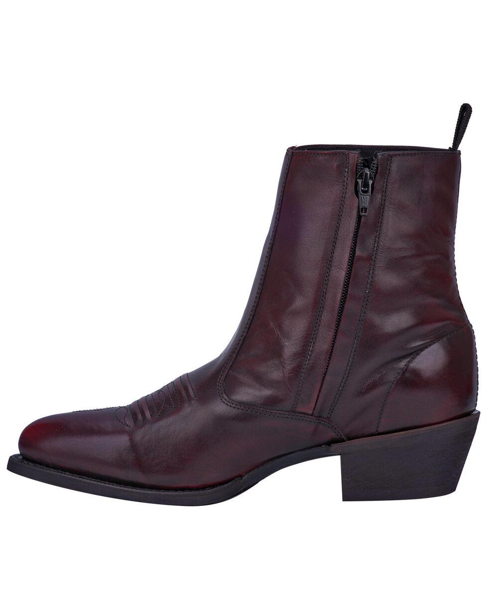 62078 Round Toe Laredo Men/'s Antique Cherry Side Zipper Western Boot