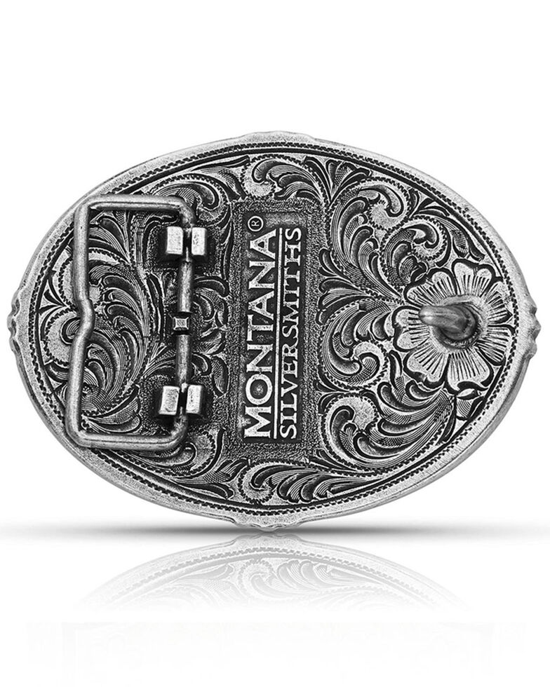 Montana Silversmiths Tri-Color Southwestern Buffalo Attitude Buckle, Bronze, hi-res