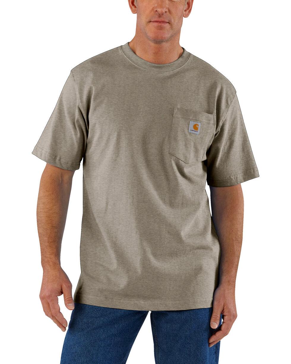 Carhartt Short Sleeve Pocket Work T-Shirt, Tan, hi-res