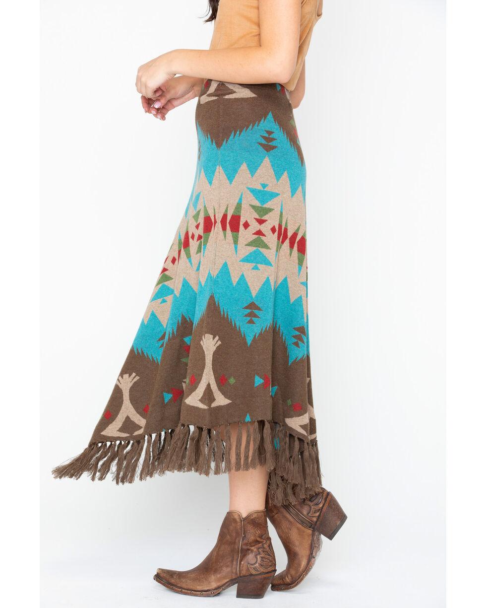 Tasha Polizzi Women's Cheyenne Tipi Skirt, Teal, hi-res