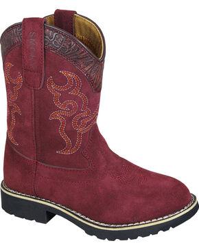 Smoky Mountain Girls' Rae Western Boots - Round Toe , Burgundy, hi-res