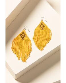 Idyllwind Women's Beaded You To It Yellow Earrings, Yellow, hi-res