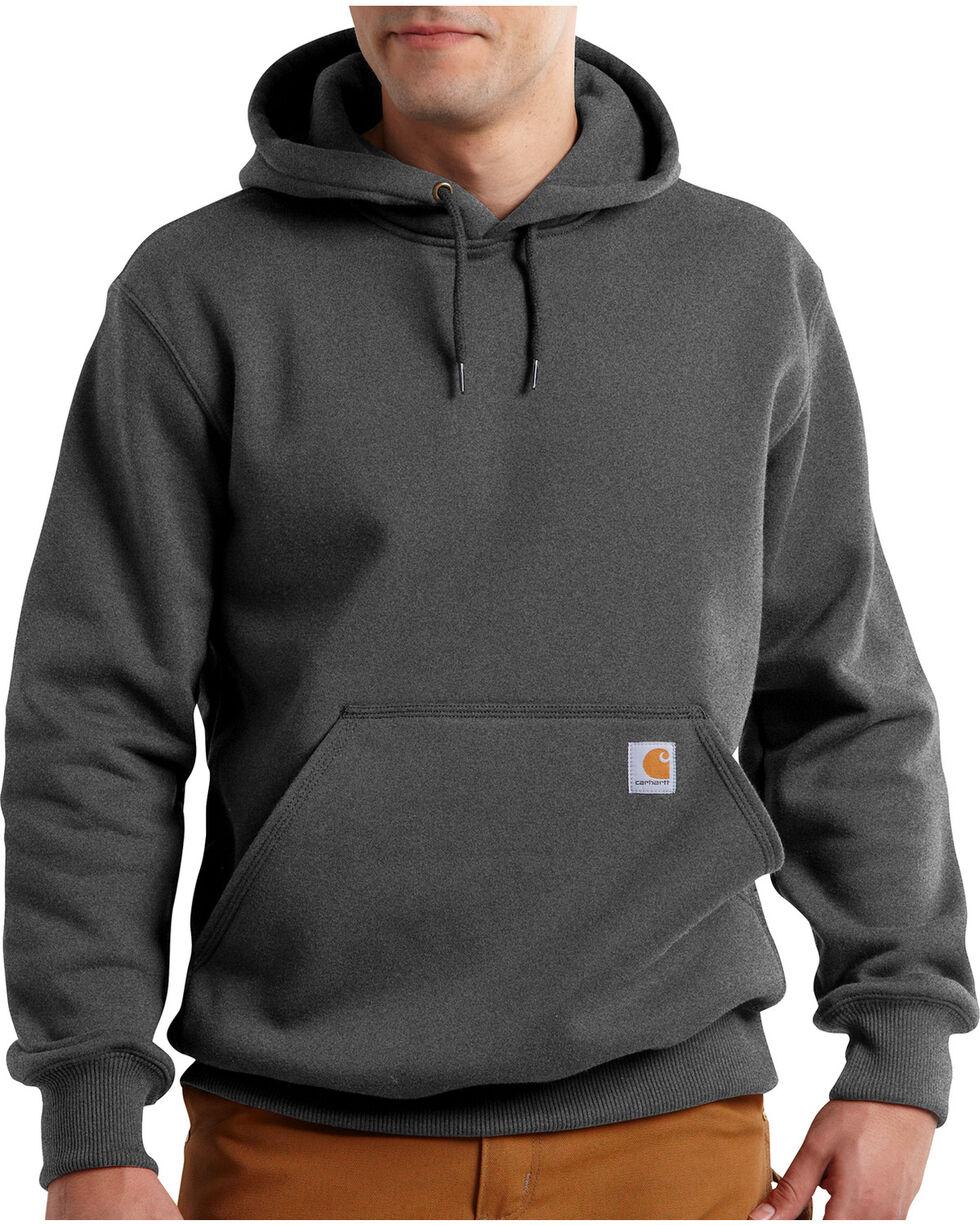 Carhartt Men's Rain Defender Paxton Heavyweight Hooded Sweatshirt, Dark Grey, hi-res