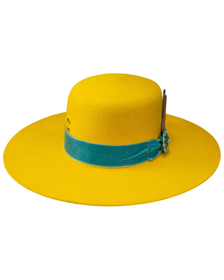 Charlie 1 Horse Women's Yellow Nomad Western Wool Hat , Yellow, hi-res