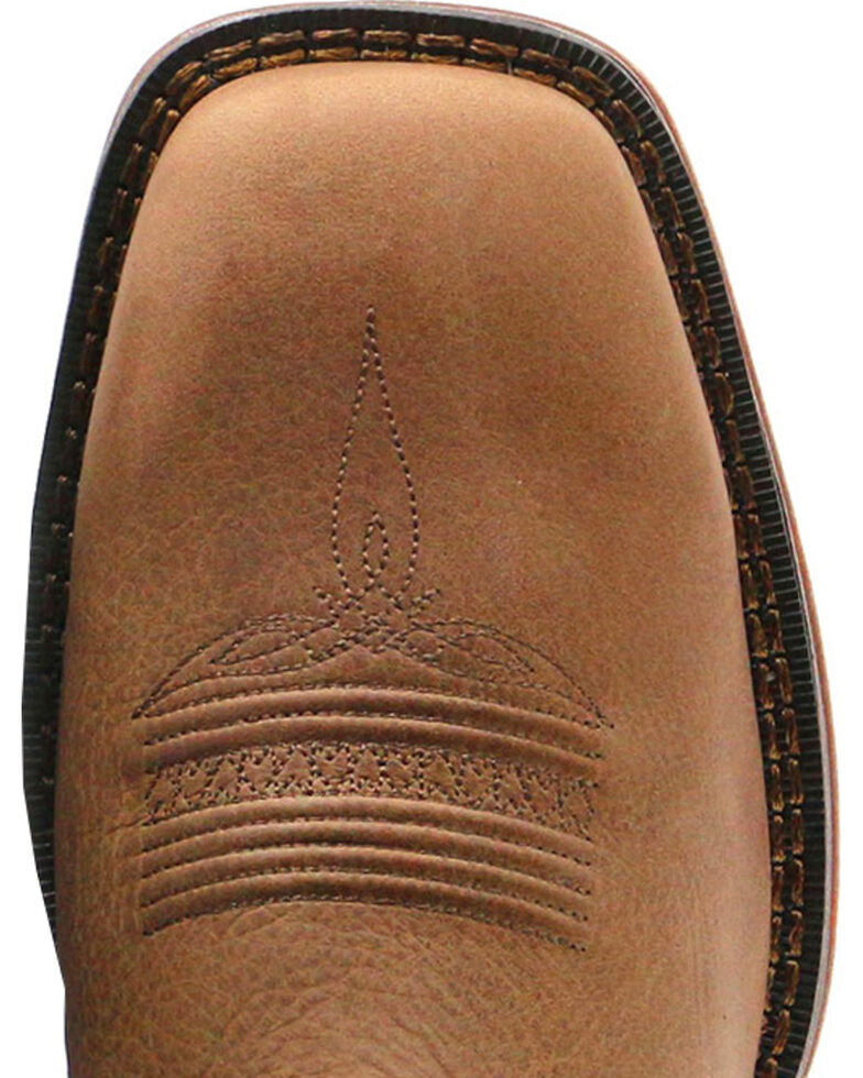 Durango Men's Rebel Pull-On Broad Square Toe Western Boots, Brown, hi-res