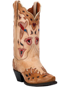 9b2441fd520 Dan Post Women s Bone Hummingbird Wingtip Cowgirl Boots - Snip Toe
