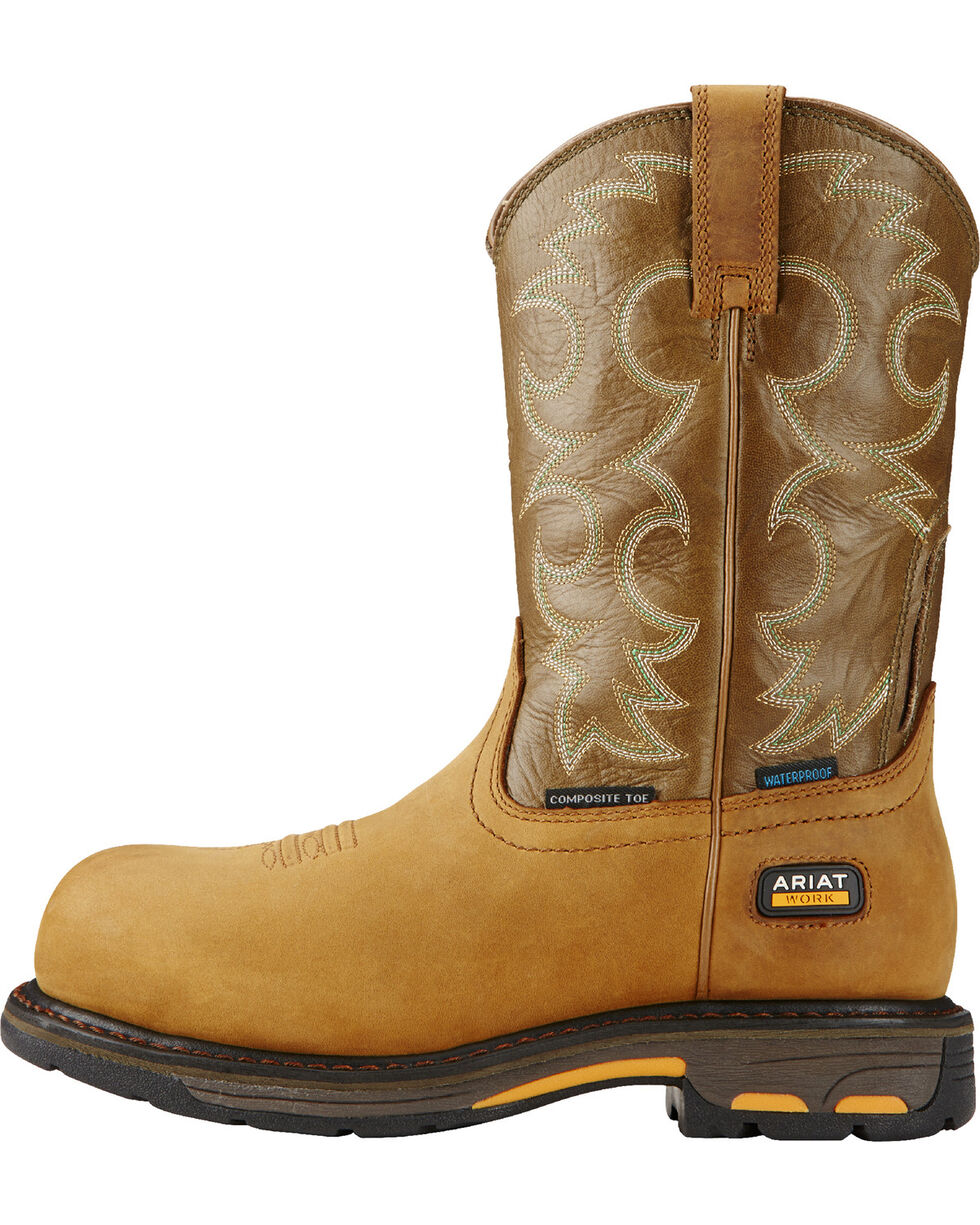 Ariat Women's Tan Workhog H2O Western Work Boots, Aged Bark, hi-res