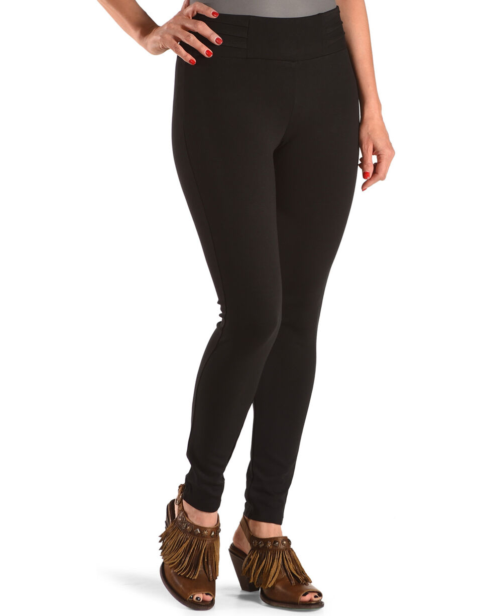 Boom Boom Jeans Women's Black Ponte Leggings , Black, hi-res