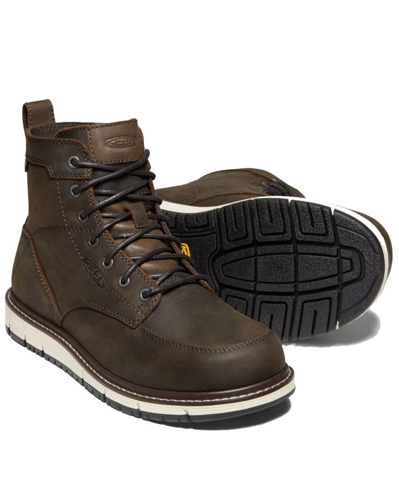 Keen Men's San Jose Waterproof Work Boots - Soft Toe, Brown, hi-res
