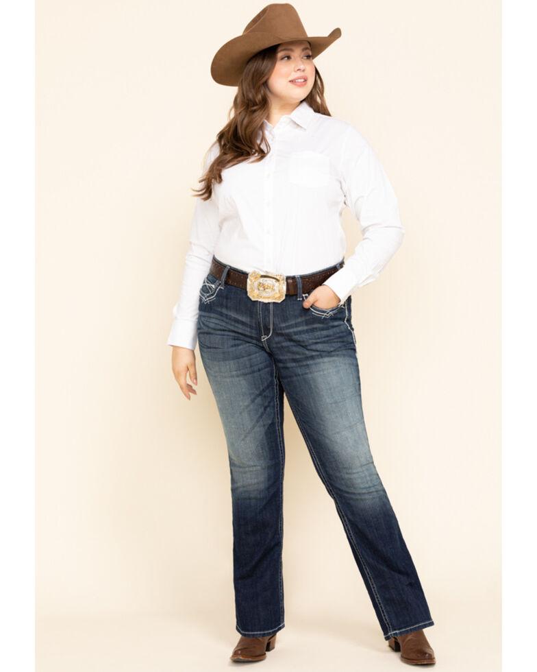 Ariat Women's White Kirby Stretch Shirt - Plus, White, hi-res