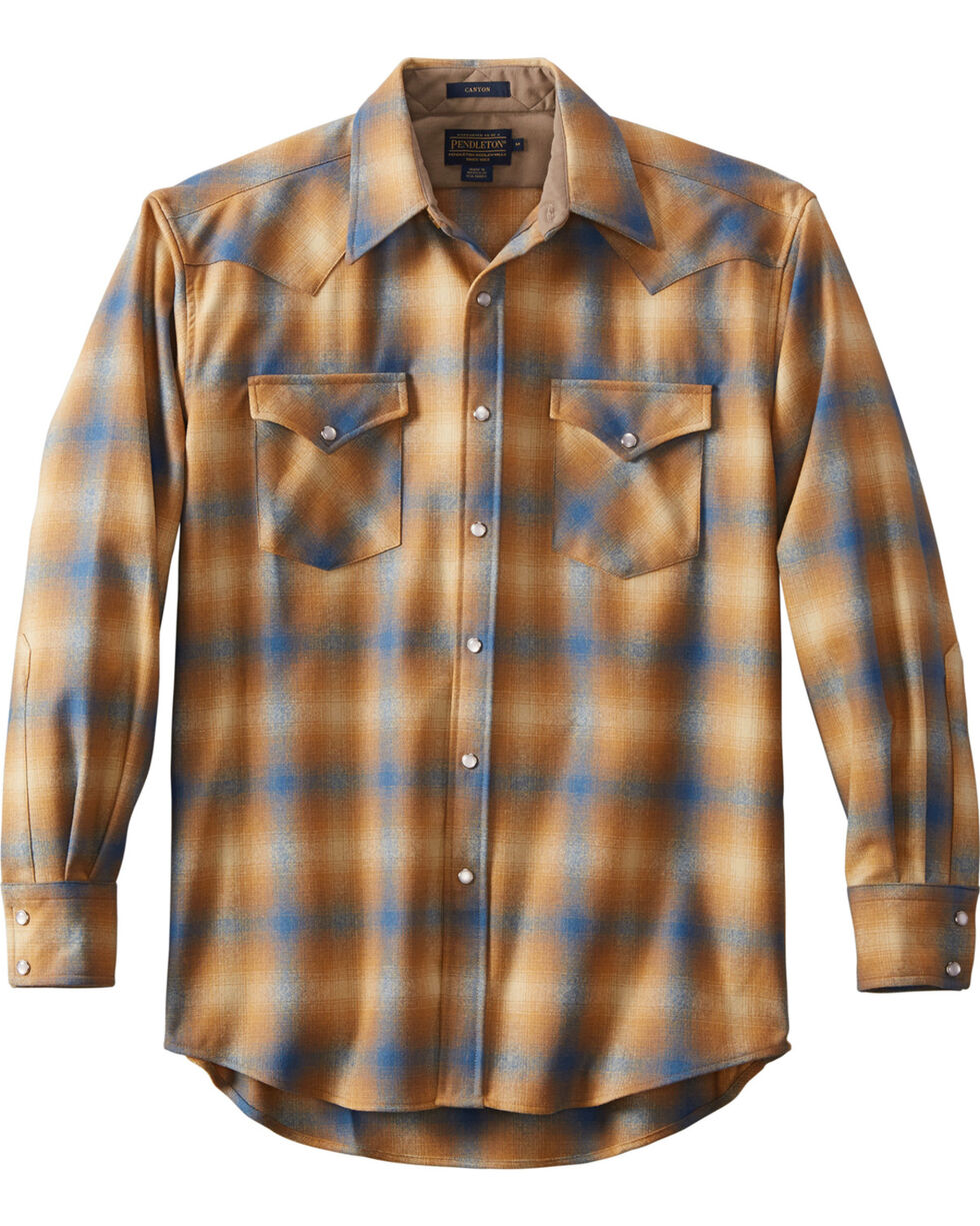 Pendleton Men's Tan Canyon Plaid Shirt , Tan, hi-res