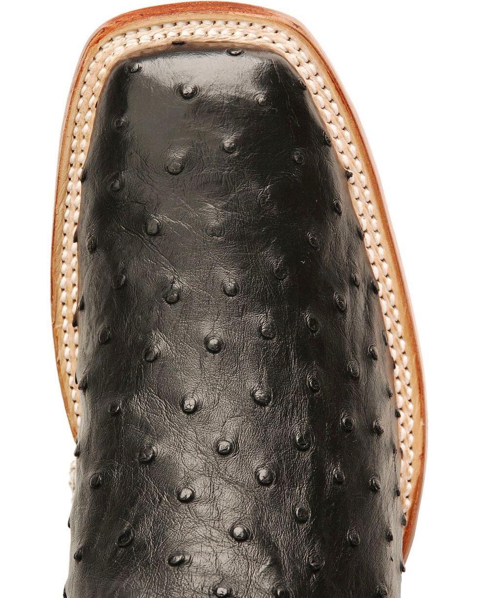 Nocona Men's Full Quill Ostrich Exotic Boots, Black, hi-res