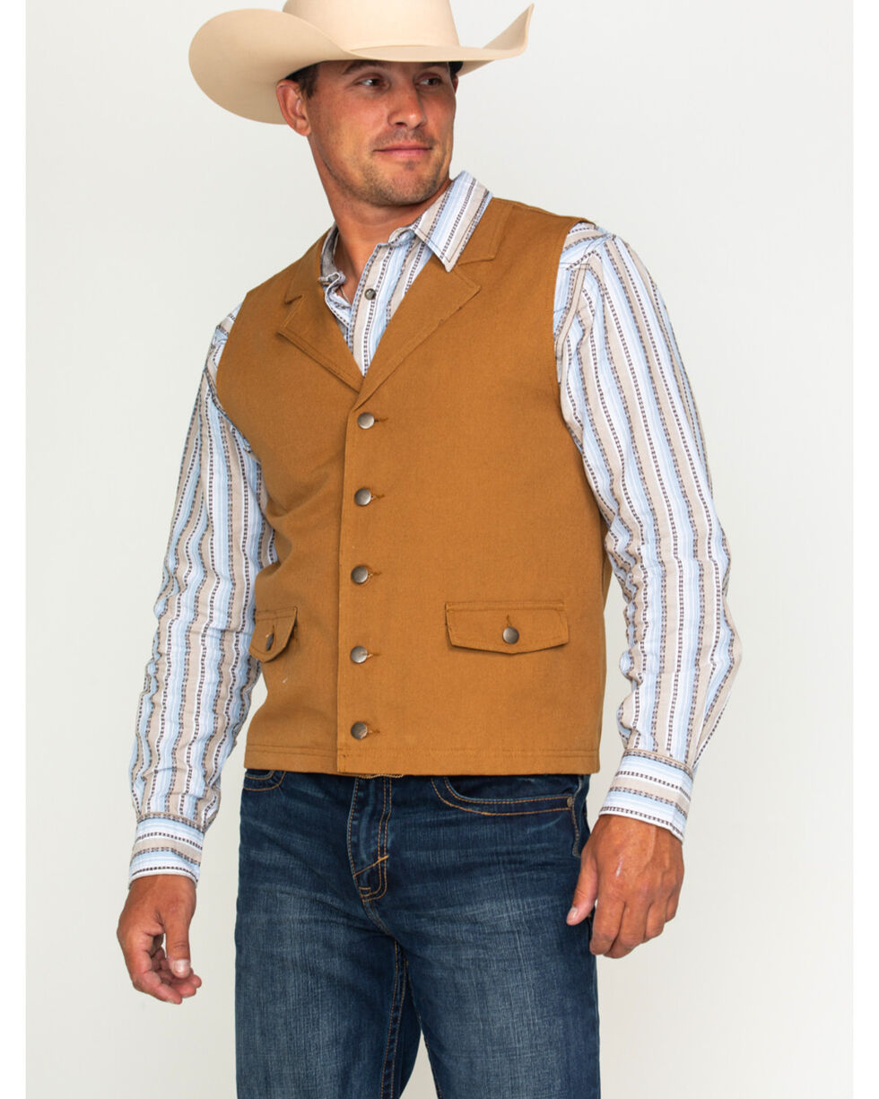 Cody James Men's Dagget Canvas Vest, Camel, hi-res
