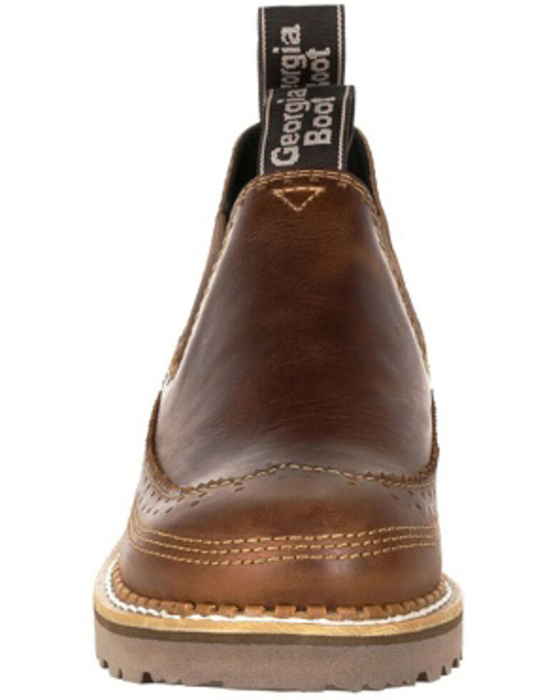Georgia Boot Women's Giant Brown Saddle Romeo Shoes - Round Toe, Russett, hi-res