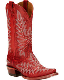 Ariat Women's Brooklyn Western Boots, Red, hi-res