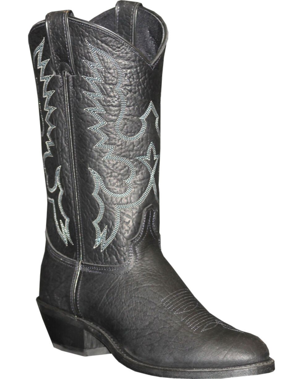 "Abilene Men's 12"" Pull-On Western Boots, Black, hi-res"
